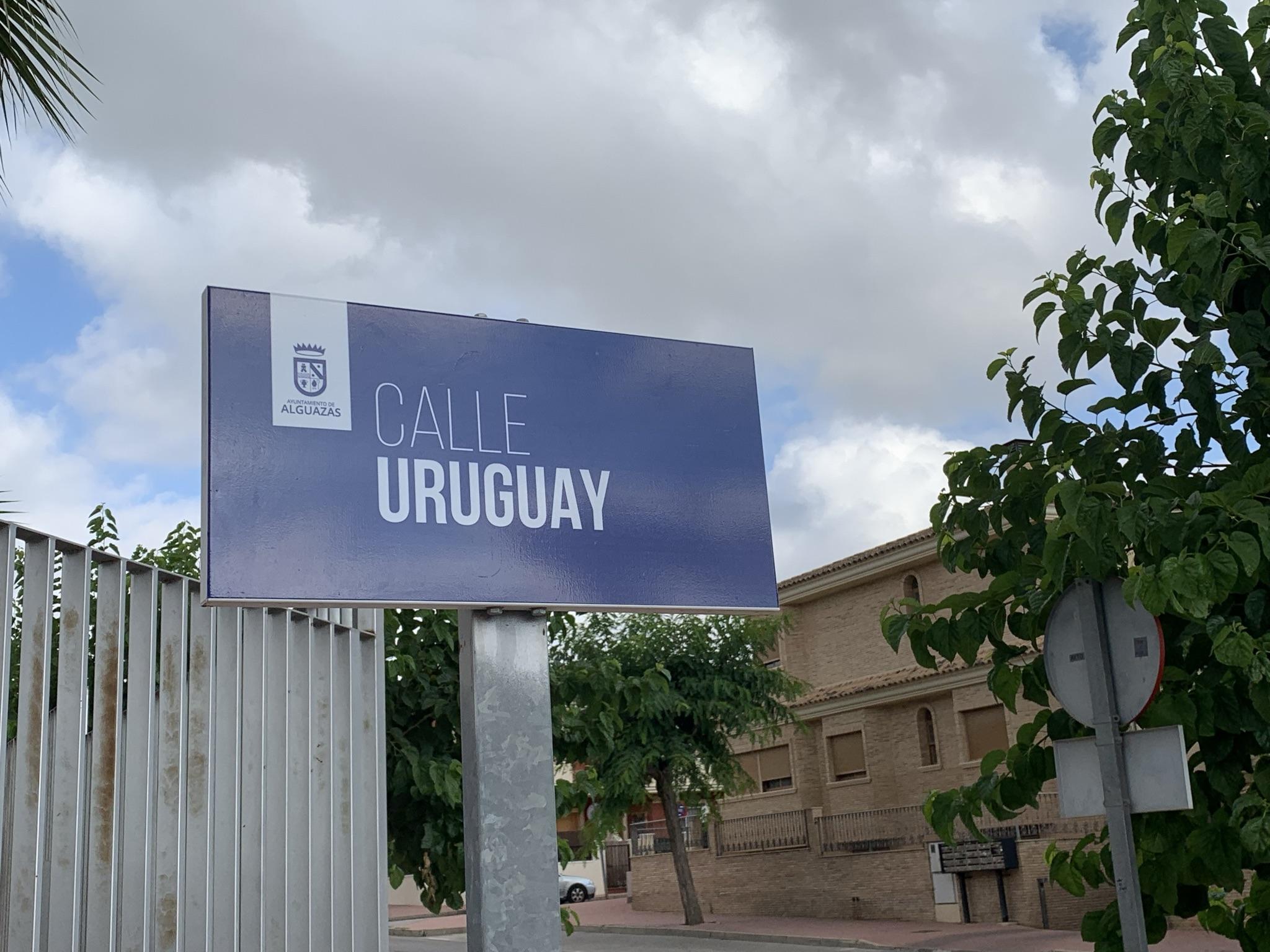 Diseño de las nuevas placas de calles en Alguazas.